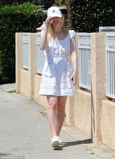Serving up some style: The 18-year-old actress cut a sporty figure as she…