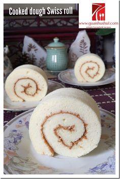 Cooked Dough Swiss Roll (烫面瑞士卷)    #guaishushu #kenneth_goh    #烫面