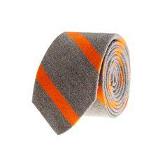 Macartney-stripe wool-silk tie - wool ties - Men's ties & pocket squares - J.Crew
