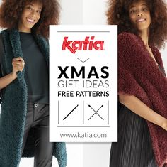 In addition to this 20 Christmas gift patterns, take a look at the Katia website. Here, you can find up to 5000 knit, crochet, macrame and sewing projects. Knit Or Crochet, Crochet Gifts, Easy Crochet, Easy Knitting, Knitting Patterns, Crochet Patterns, Easy Patterns, Simple Christmas, Christmas Gifts