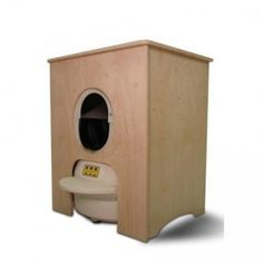 Litter-Robot Natural Wood Cabinet - Side View