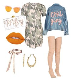 """""""Girl gang"""" by yasmineings on Polyvore featuring Balmain, NLY Trend, High Heels Suicide, Betsey Johnson and Lime Crime"""