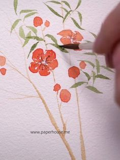 Keep spring time alive all year long with our Sakura Portable Watercolor Set Watercolor Flowers Tutorial, Easy Watercolor, Flower Tutorial, Floral Watercolor, Watercolor Paintings Nature, Watercolor Paintings For Beginners, Watercolors, Arte Floral, Flower Art