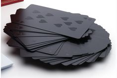 In cards there are winners and losers, these decks of cards literally keep it that simple.  Don't think you can get any cooler than a round of black jack in Vegas?  Well, try these sleek, sophisticated monochromatic cards that will keep the deck as cool as the heads that are playing.  Each deck comes boxed.  Available in Black