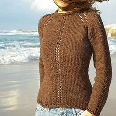 Sinfully Simple Lace Sweater | AllFreeKnitting.com