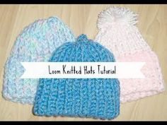 DIY Baby Beanies with a Round Knitting Loom: Tutorial Tuesday