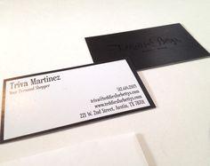 business card design // black foil on black