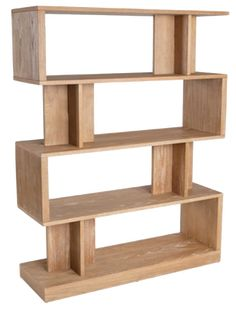 Modern Bookshelf upholstered in Light Oak and Oak Veneer with four shelves Floating Bookshelves, Bookcase Shelves, Storage Shelves, Wall Shelves, Shelving, Bookcases, Office Storage, Condo Furniture, Furniture Styles