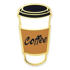PinMart's Coffee To-Go Cup Trendy Enamel Lapel Pin
