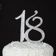 18 Cake Topper for 18th Birthday or Anniversary - Silver Rhinestone Number Party Decoration Supplies and Ideas (Silver) ** Discover this special deal, click the image : Baking desserts tools