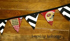 Bunting banner San Francisco 49ers football by LegallyTwinsane, $13.00