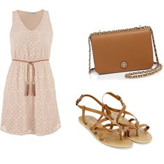 nude lace by winfreygirl on Polyvore featuring polyvore mode style maurices Monsoon Tory Burch