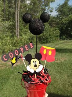 Mickey Mouse Centerpiece Personalized by eryacah on Etsy, $11.00