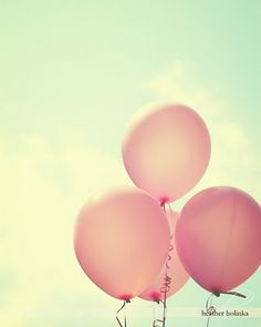 mint green and pink balloons