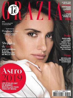 Penélope Cruz for Grazia - December 2019 Grazia Magazine, Vogue Magazine Covers, Cosmopolitan Magazine, Louis Garrel, Penelope Cruz, Chanel, Rebel, News Fashion, Beautiful Meaning