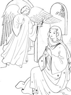 Feast of the Annunciation tomorrow! Here is something for the kiddos :)