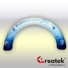 Event advertising inflatable arch with full digital print. Europe's leading manufacturer of inflatable advertising REATEK. Logo Shapes, Bouncy Castle, Indoor Playground, Finish Line, Grand Opening, Digital Prints, Arch, Advertising, Printing