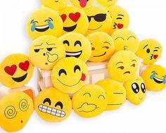 Cute Emoji Cushion Pillow Plush Stuffed Toy Doll Round Yellow Soft Emoticon