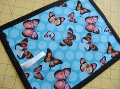 Michael Miller Polka Dot butterfly TRAVEL by adornwithaandm, $8.00