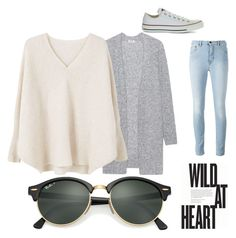 Cardigan by ximena-olivo on Polyvore featuring polyvore, fashion, style, MANGO, Acne Studios, Converse, Ray-Ban and clothing