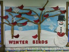 Many people believe that there is a magical formula for home decoration. You do things… Bird Bulletin Boards, Winter Bulletin Boards, Preschool Bulletin Boards, Winter Thema, Winter Crafts For Kids, Kindergarten Art, Winter Activities, Preschool Crafts, Board Ideas