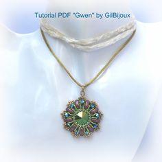 """Tutorial Ciondolo """"Gwen"""" - Con Swarovski e Perline Cali."""