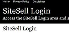 SiteSell Login