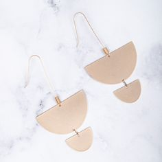 Simple and Stately. These light weight Geo Drops made from brass and iron come in the worn gold and worn rhodium finish. Statement Jewelry, Geo, Gold Necklace, Jewellery, Color, Gold Pendant Necklace, Jewels, Schmuck, Colour