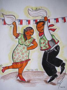 cueca chilena a lápiz525 Dance Baile, Lets Dance, Moose Art, Creative, Painting, Animals, Music, Bicycle Kick, Atelier