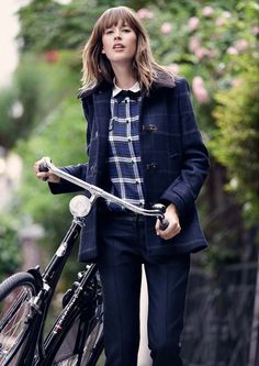 Autumnal Look from Claudie Pierlot - if not for the  bike, I think its me!