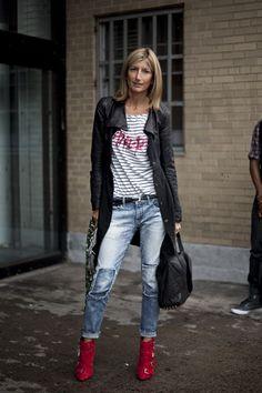 Sarah Rutson... Patched jeans