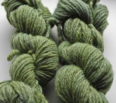 Black Beans as a Natural Dye on Wool by Herb Knitter, via Flickr