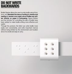 This little invention is freaking AWESOME. Making writing braille anywhere and much more easily...improving lives, impacting people in a real and meaningful way!!