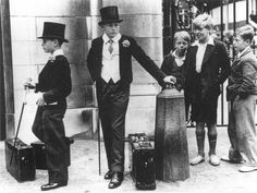 """""""Toffs and Toughs"""", the famous photo by Jimmy Sime that illustrates the class divide in pre-war Britain, 1937"""