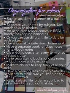 Organization tips for back to school to get you prepared for the new school year! Middle School Hacks, Life Hacks For School, School Study Tips, Back To School Tips, School Routine For Teens, School Routines, School Goals, New School Year, Planning School