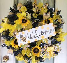 Sunflowers Welcome Large Door Wreaths, XL Spring Summer Wreaths for Front Door, Summer Home Decor Summer Door Wreaths, Christmas Mesh Wreaths, Deco Mesh Wreaths, Easter Wreaths, Wreaths For Front Door, Holiday Wreaths, Christmas Gifts, Halloween Wreaths, Spring Wreaths
