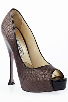 Brian Atwood Open-Toe Pumps Spring Summer 2012 #Shoes #Heels #BrianAtwood