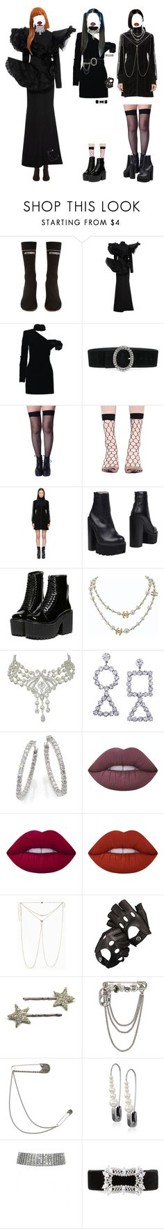 """-bad boy"" by salt-sugar ❤ liked on Polyvore featuring Vetements, Christian Siriano, Yves Saint Laurent, Alberta Ferretti, Opening Ceremony, Jeffrey Campbell, Chanel, Roberto Coin, Lime Crime and Aspinal of London"