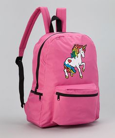 Another great find on #zulily! Hollywood Mirror Pink Unicorn Backpack by Hollywood Mirror #zulilyfinds