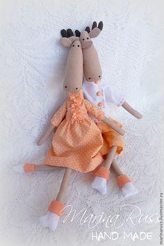 Купить Лосики - лось, лосик, лосики, лоси, тильда, текстильный лось, текстильная игрушка