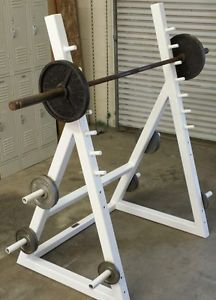 Professional Heavy Duty Squat Rack with 7'  Olympic Bar and 135lbs Weight