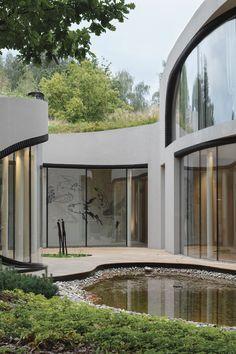 Futuristic Home, Futuristic Architecture, Futuristic Design, Organic Architecture, Interior Architecture, Pavilion Architecture, Residential Architecture, Contemporary Architecture, Interior Design