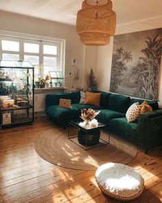 Boho Living Room, Living Room Interior, Home Interior Design, Living Room Decor, Interior Photo, Bohemian Living, Bohemian Decor, Interior Architecture, Living Rooms