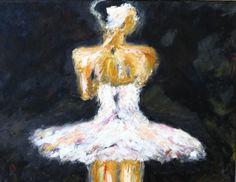 """Huile sur toile """"Odette"""" de ZsaZsa Bellagio de Novembre 2011"""