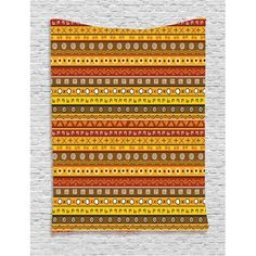Primitive Decor Tapestry, Tribal Art with Abstract Pattern Ancient Indigenous Rug Motif Symbol, Wall Hanging for Bedroom Living Room Dorm Decor, 40W X 60L Inches, Orange Yellow, by Ambesonne #primitivedecor
