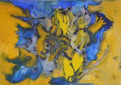 "Abstract Watercolor Painting: ""Ocean Waters"", Becker Beste Aquarelle, Expressionist art, Earth art, Seascape painting, Berlin art, wall art"