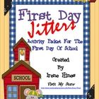 First Day Jitters: Back-To-School Packet for the first day of school.This newly expanded unit has 36 pages of games, activities and printables th...