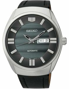 Seiko Automatic Mens Recraft Series - Stainless- Slate Dial   Strap -  Day Date 56166ad1396