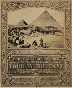 Tour in the East cover image, Egypt, 1862, photograph by Francis Bedford.