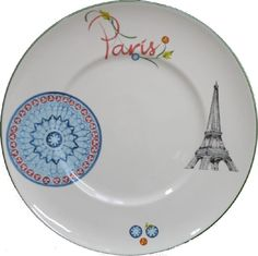 Plat plat faïence Paris Ø32,7cm
